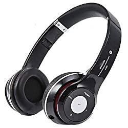 Micomy S-460 Wireless Bluetooth Headphone with Aux cable connector -Black