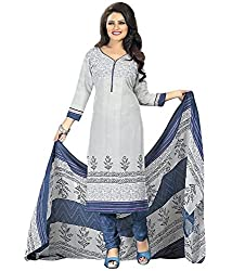 Araham Printed Multicolor Synthetic SoftCrepe Dress Material/ Unstitched Salwar Suit