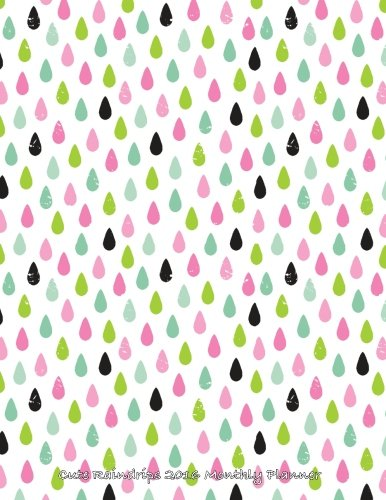 Cute Raindrops 2016 Monthly Planner (Rain Calendar 2015 compare prices)