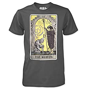 The Maiden - by Meat Bun - Maiden in Black Tarot Card T-Shirt