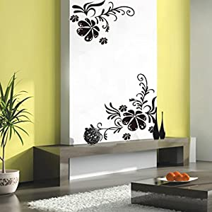 Flower Tree Vine Blossom Wall Sticker Mural Decor Art Vinyl Decal Black by Product