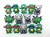 14 Ninja Turtles Shoe Charms for Croc Fits Shoes & Wristband Bracelet Party Kids Gifts