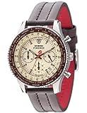 Detomaso - SL1624C-BG - Firenze - Montre Homme - Quartz Analogique - Cadran Beige - Bracelet Cuir Marron