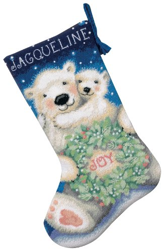 Dimensions Needlecrafts Needlepoint, Polar Bear Joy Stocking