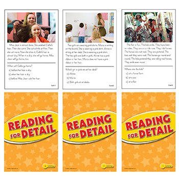 Reading for Detail Practice Cards Yellow Level - 1