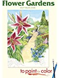 Flower Gardens to Paint or Color