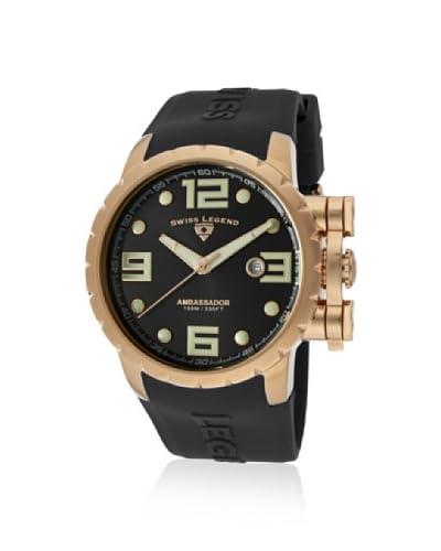 Swiss Legend Men's 30021-RG-01 Ambassador Black/Rose Watch