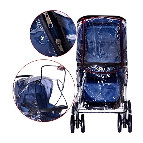 Starsource Universal Travel System Weather Shield Thicken Clear Waterproof Rain Cover Wind Dust Protector for Strollers Pushchairs