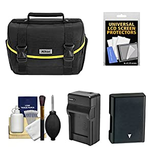 Nikon Starter Digital SLR Camera Case - Gadget Bag with EN-EL14 Battery + Charger + Kit for D3100, D3200, D3300, D5200, D5300, D5500