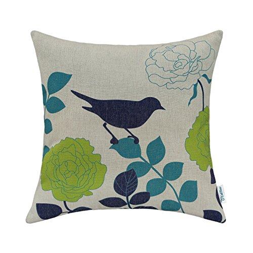 calitime-cushion-cover-throw-pillow-shell-floral-shadow-bird-18-x-18-inches-natural-ground-navy-bird