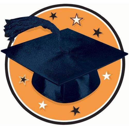 Congrats Grad Orange Graduation Cutout