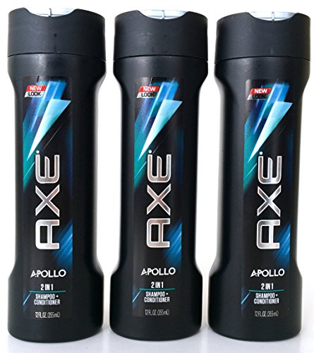 Axe Apollo 2 in 1 Shampoo + Conditioner, 12 Ounce (Pack of 3) (Shampoo And Conditioner Axe compare prices)