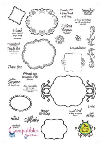 Unity Stamps Unmounted Red Rubber Stamps 8.5'X11' Sheet Ornate Artisan