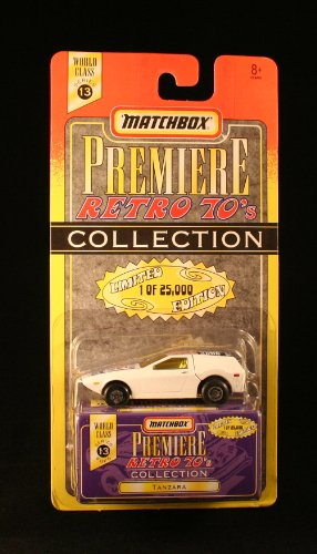 TANZARA * 1997 MATCHBOX PREMIERE * Series 13 Retro 70's Collection 1:64 Scale Die-Cast Vehicle * Limited Edition 1 of 25,000 *