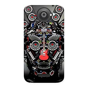 Face of Music Back Case Cover for HTC One X