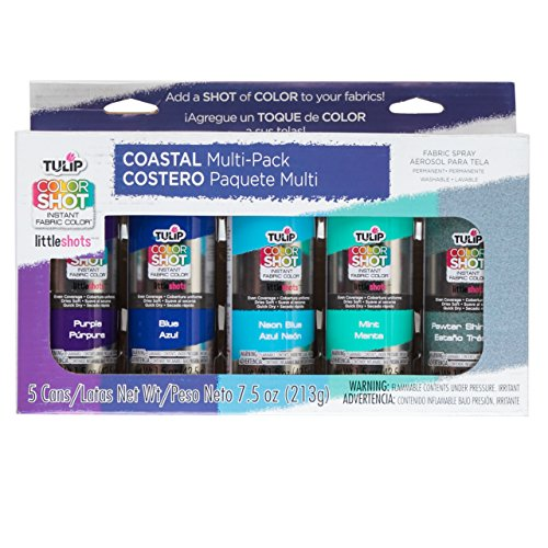 Tulip 35138 Instant Color Shots Coastal Fabric Paint (5 Pack) (Aerosol Spray Paint Pack compare prices)