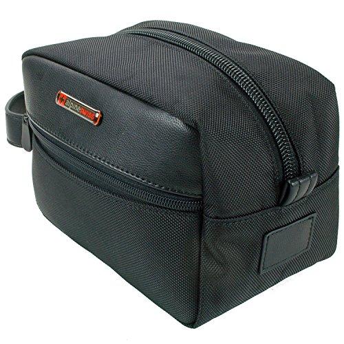 Alpine-Swiss-Hudson-Travel-Toiletry-Bag-Shaving-Dopp-Kit-Black