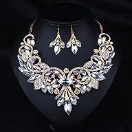 Hamer Women's White and Black Crystal…