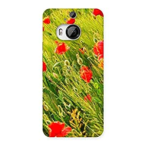Impressive Beauty Flowers Farm Back Case Cover for HTC One M9 Plus