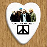 Chickenfoot 5 X Bass Guitar Picks Both Sides Printed
