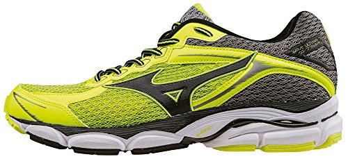 Mizuno Wave Ultima 7 - J1GR150907 Scarpe da corsa, Uomo, Giallo (SafetyYellow/Black/MetalicShadow), 43