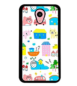 Printvisa Multicoloured Kiddish Pattern Back Case Cover for Meizu m1 note