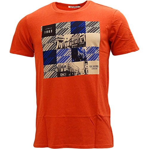 Ben Sherman -  T-shirt - T-shirt  - Basic - Maniche corte  - Uomo Orange X-Large