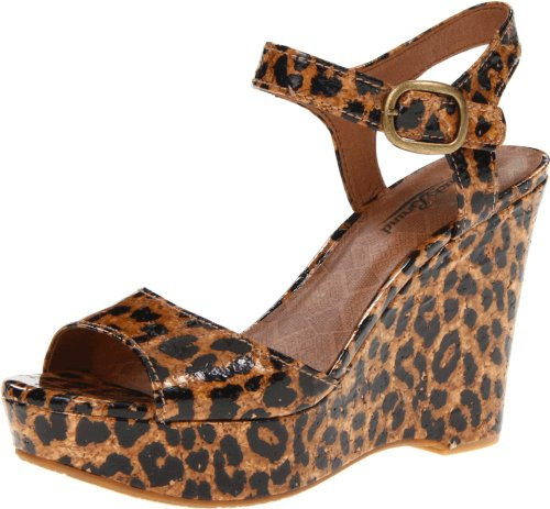 Lucky Brand Women's Lindey Luxe Leopard Ankle Strap 3 UK