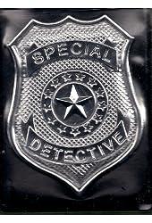 DETECTIVE BADGE & FLIP WALLET w/ ID CARD Playset