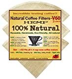 P&F(3 pack)Natural Reusable Coffee Filters 02- FULL TASTE- NO HARMFUL CHEMICAL IN YOUR DRIP COFFEE ANYMORE- 100% Natural - Fits with 1-4 Cups Pour-over Coffee Brewers or Hario V60 02 Coffee Dripper