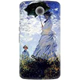 The Racoon Lean Woman With A Parasol Inspired Hard Plastic Printed Back Case For Google Nexus 6