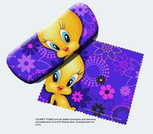 Spoontiques Tweety Bird Eye Reading Glasses Case and Lens Cloth Picture