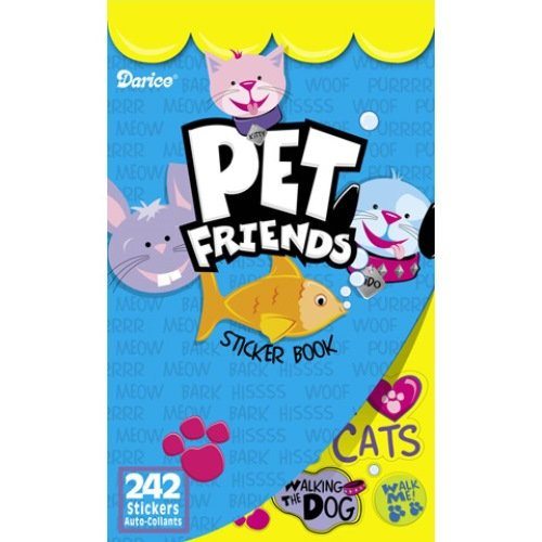 WeGlow International Pet Friends Sticker Books, Set of 4