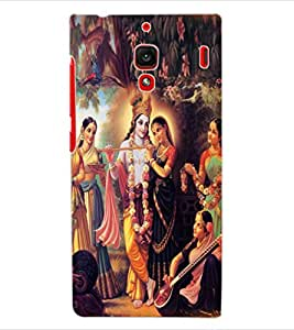 ColourCraft Radha Krishan Design Back Case Cover for XIAOMI REDMI 1S