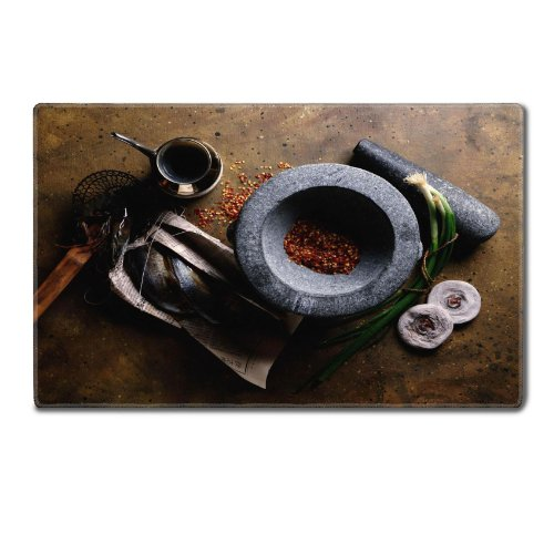 Mortar Spice Grinder Cooking Meal Table Mats Customized Made To Order Support Ready 24 Inch (610Mm) X 14 15/16 Inch (380Mm) X 1/8 Inch (4Mm) High Quality Eco Friendly Cloth With Neoprene Rubber Luxlady Small Deskmat Desktop Mousepad Laptop Mousepads Comfo front-554565