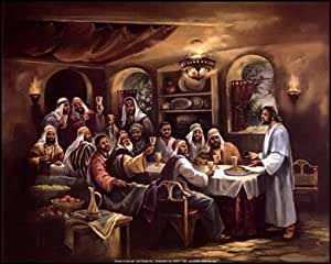 Amazon Com Black Last Supper Art Poster Print Beverly