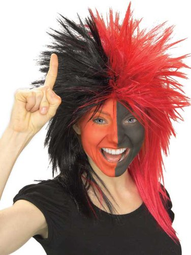 Rubie's Costume Black and Red Sports Fan Wig
