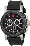 "Zodiac ZMX Men's ZO8503 ""Racer"" Stainless Steel Watch with Black Rubber Strap"