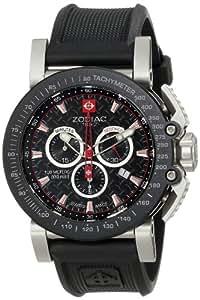 Zodiac ZMX-02 ZO8503 Gents chornograph watch with anti-allergic rubber strap