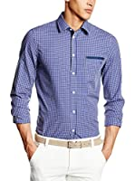 Trussardi Jeans Camisa Hombre (Vinca / Blanco)