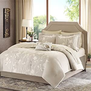 Madison Park Essentials Vaughn Complete Bed and Sheet Set - Taupe - Queen