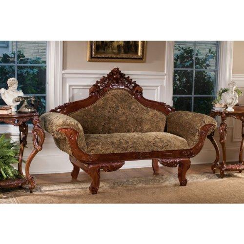 Bon Solid Hardwood Antique Replica Victorian Parlor Loveseat Sofa Settee