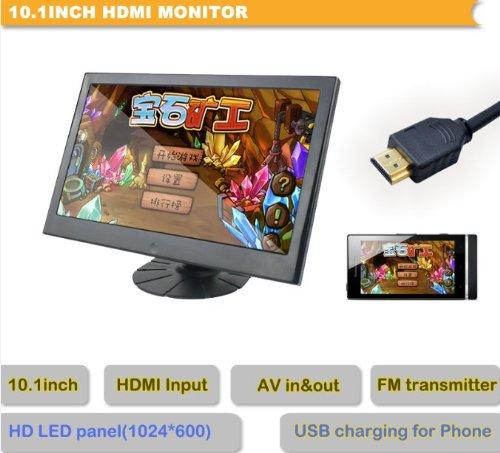 101-Zoll-LCD-HD-Monitor-HDMI-FM-Transmitter-AUTO-berwachung-Touchbutton
