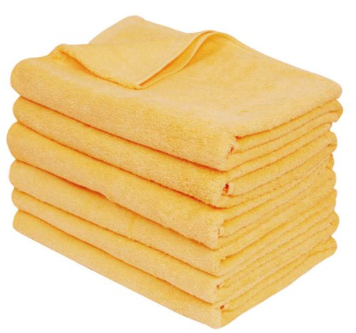 【Amazon.co.jp限定】大手エステサロン用に仕立てられた 綿100% 業務用 バスタオル 6枚セット