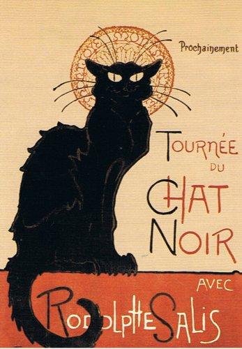 ねこの引出し アメリカ製猫のポストカード・スタンランの猫『TOURNEE DU CHAT NOIR、1896』