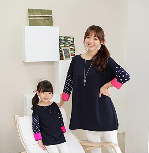 [ニューライフスカイ]子供服 長袖 親子ペア 家族 子供の服 コインドット lbertz0022 (ママ:XL)