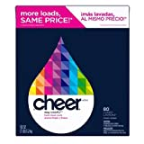 Cheer Powder Laundry Detergent Concentrated Fresh Clean Scent 113 Oz