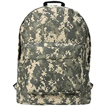 18 inch Army ACU Digital Camouflage Pattern Polyester Water-Resistant Outdoor Hiking Backpack School Book Bag for K-Cliffs