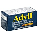 Advil Pain Reliever/Fever Reducer, 200 mg, Coated Caplets, 100 caplets