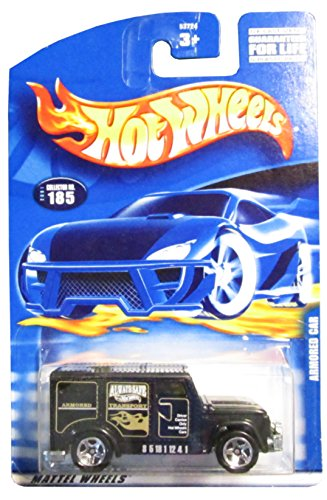 #2001-185 Armored Car Large/Small Collectible Collector Car Mattel Hot Wheels 1:64 Scale